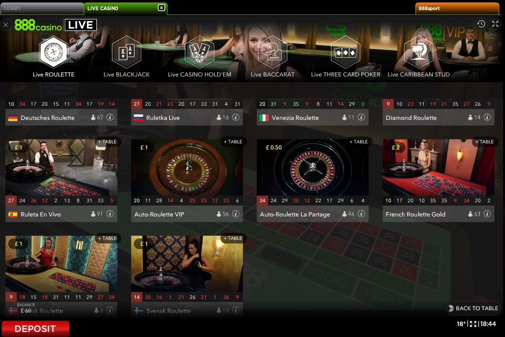 888 Casino Roulette Review Low Stakes Roulette