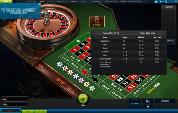 William hill online roulette rigged casino names generator
